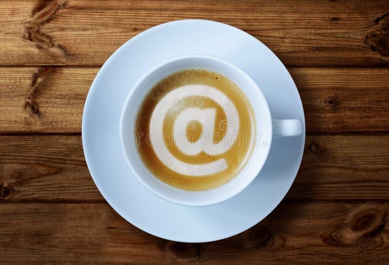 Internet-koffie royalty-vrije stock foto's