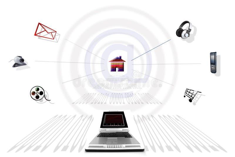 internet komunikacji ilustracji