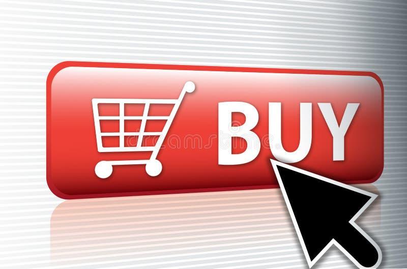 Internet koopt knoop stock illustratie