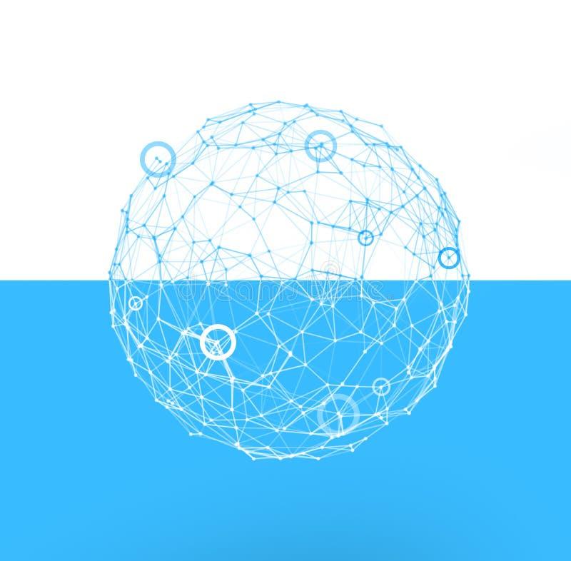 Internet-Kugel Konzept der Verbindung und des Netzes stock abbildung