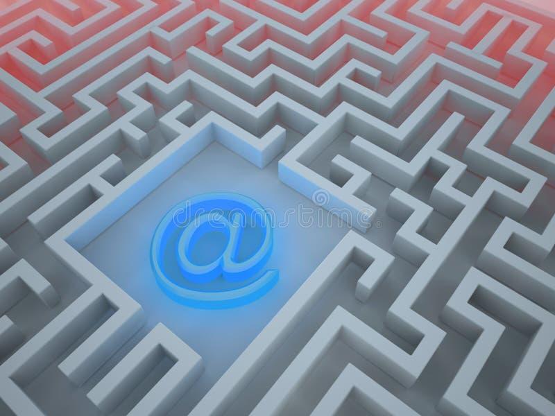 Internet-Labyrinth stock abbildung