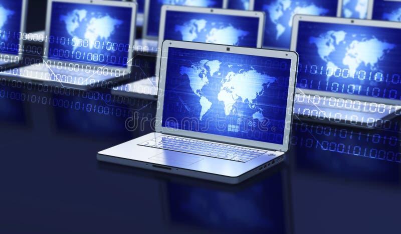 Internet Laptop royalty free illustration