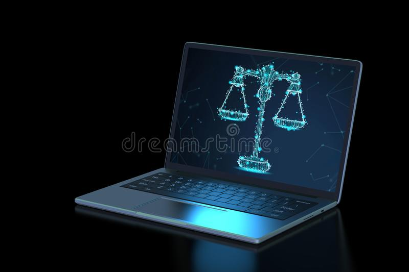 Internet law concept vector illustration