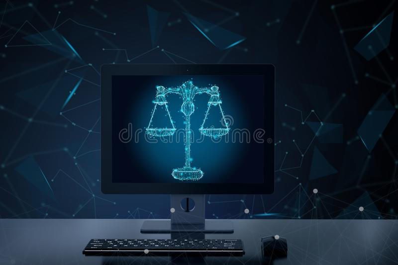 Internet law concept royalty free illustration
