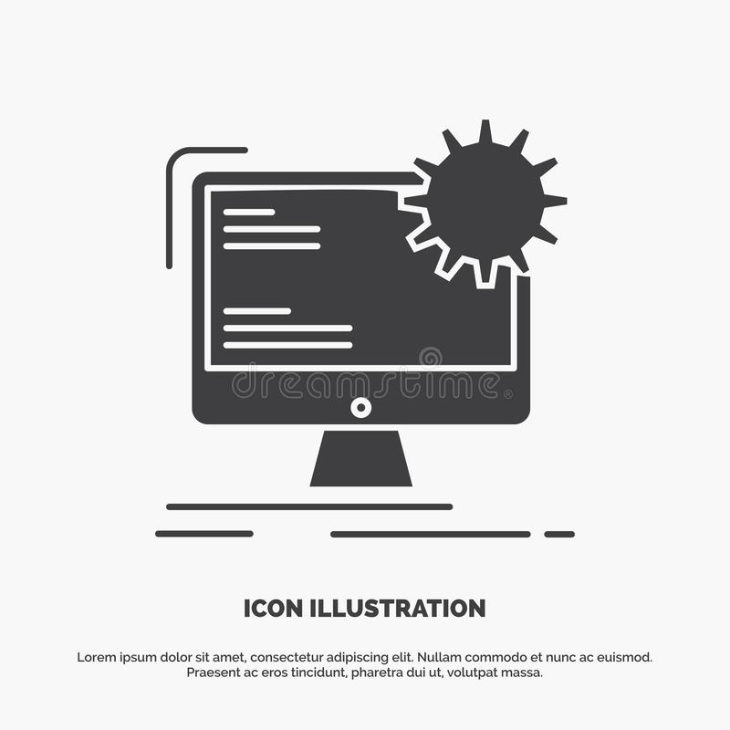 Internet, lay-out, pagina, plaats, statisch Pictogram glyph vector grijs symbool voor UI en UX, website of mobiele toepassing vector illustratie