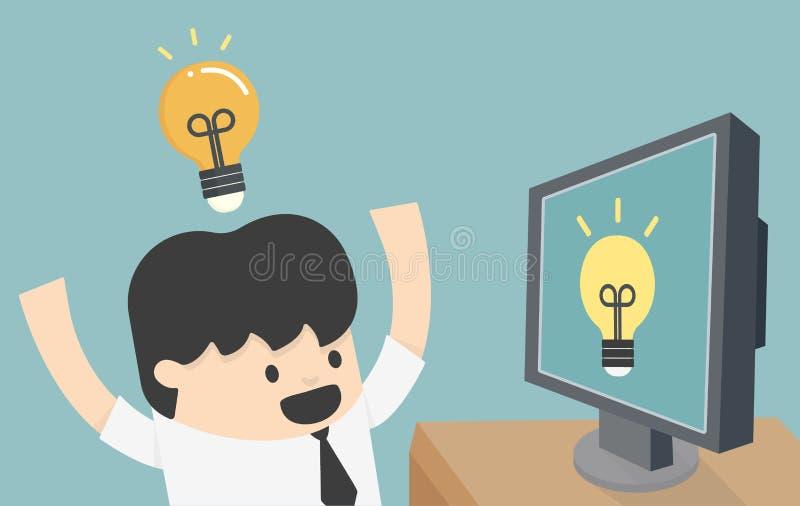 Internet learning. Cartoons concepts Internet learning eps10 stock illustration