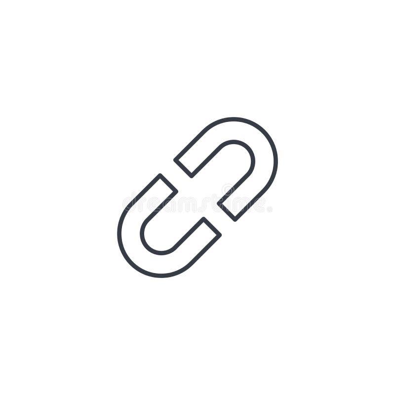 Internet link, broken chain thin line icon. Linear vector symbol stock illustration