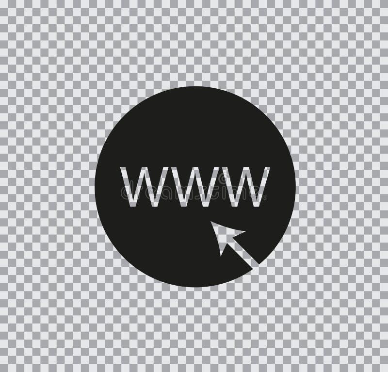 Internet liso do ícone do vetor no fundo transparente ilustração stock