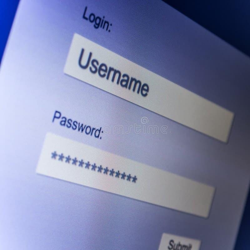 Internet-login stock afbeelding