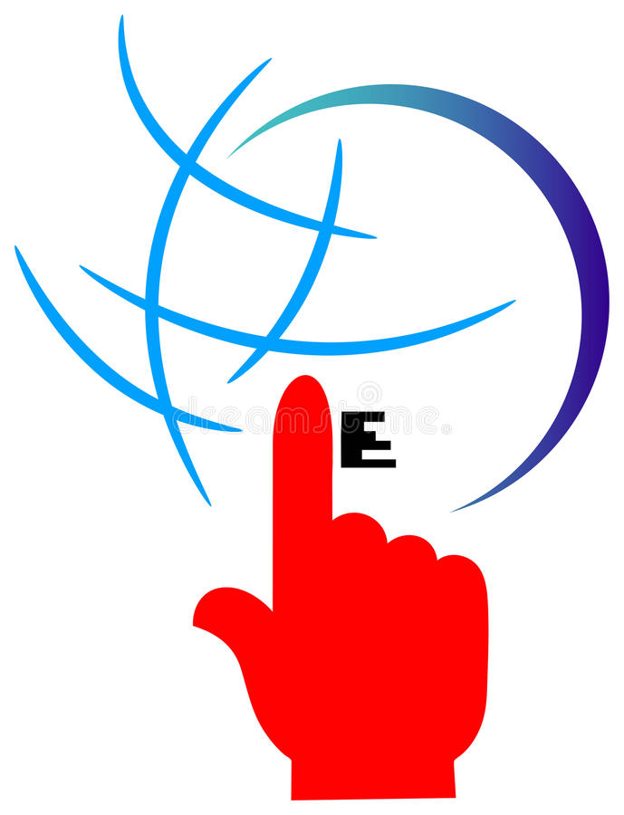 Internet logo royalty free illustration