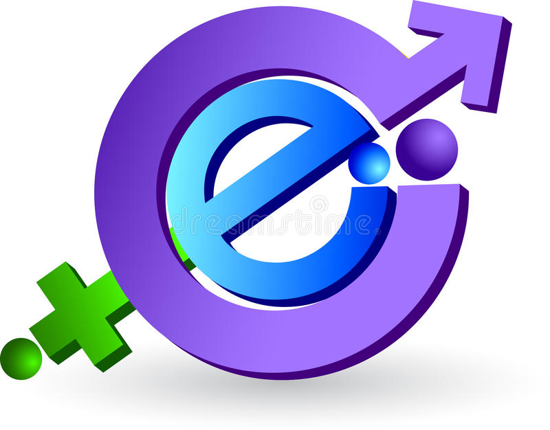 Internet logo. Illustration art of a sex internet logo with isolated background stock illustration