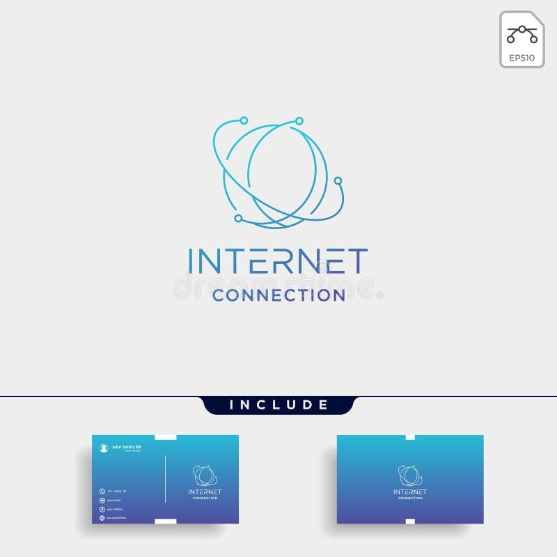 INTERNET LOGO SIMPLE LINE browser symbol icon sign vector illustration
