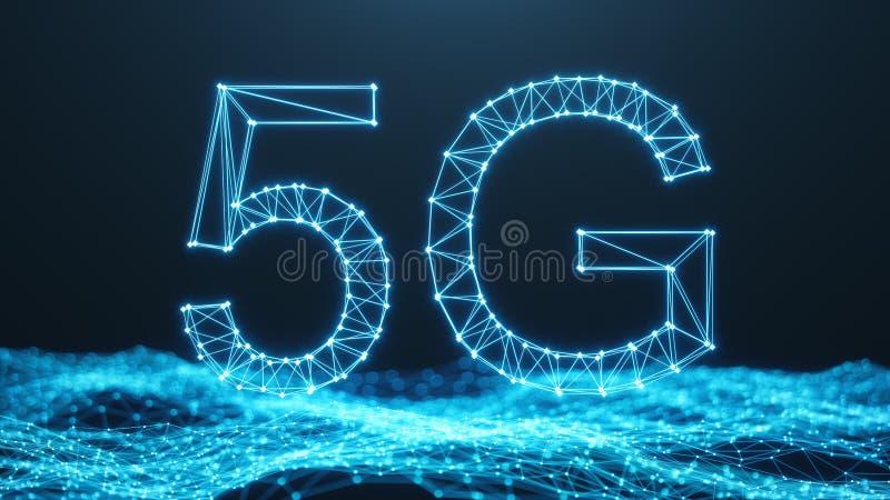 Internet móvil de alta velocidad inalámbrico 5G Concepto de la tecnolog?a Internet de alta velocidad - camino de recortes incluid ilustración del vector