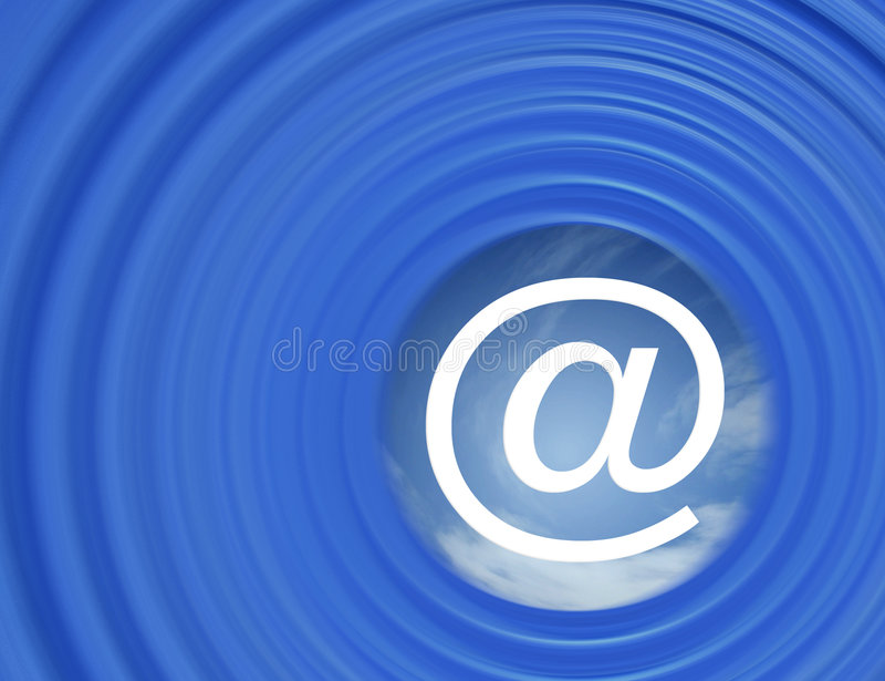 Internet mail stock illustration