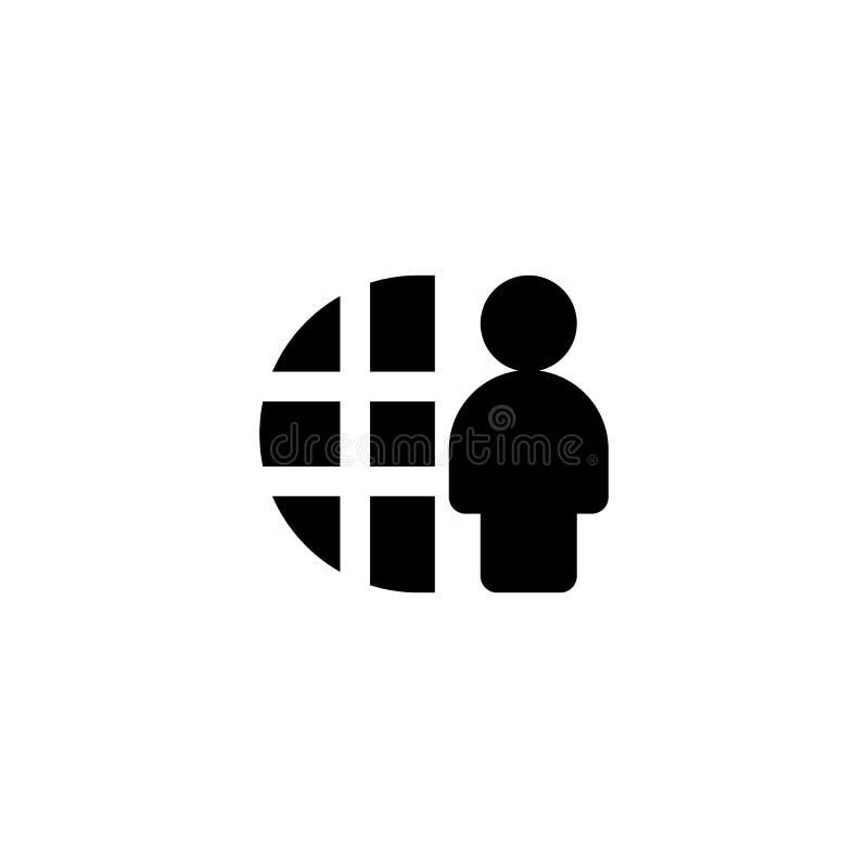 Internet and man icon. Logo Branding stock photos