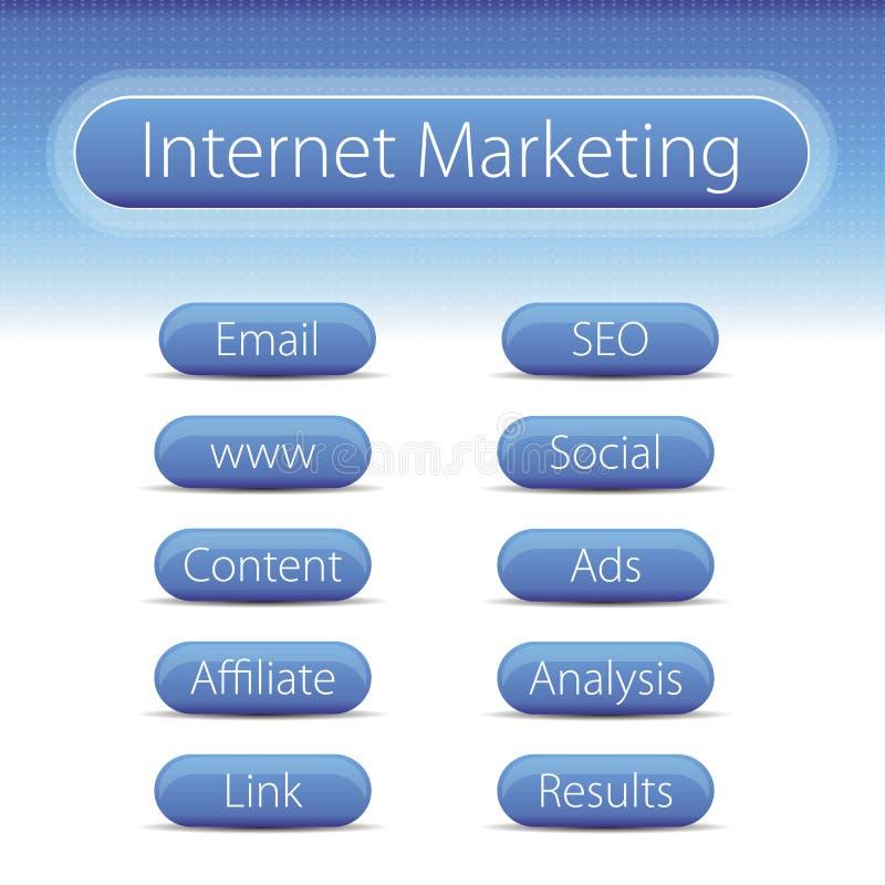 Internet-marketing banner stock illustratie
