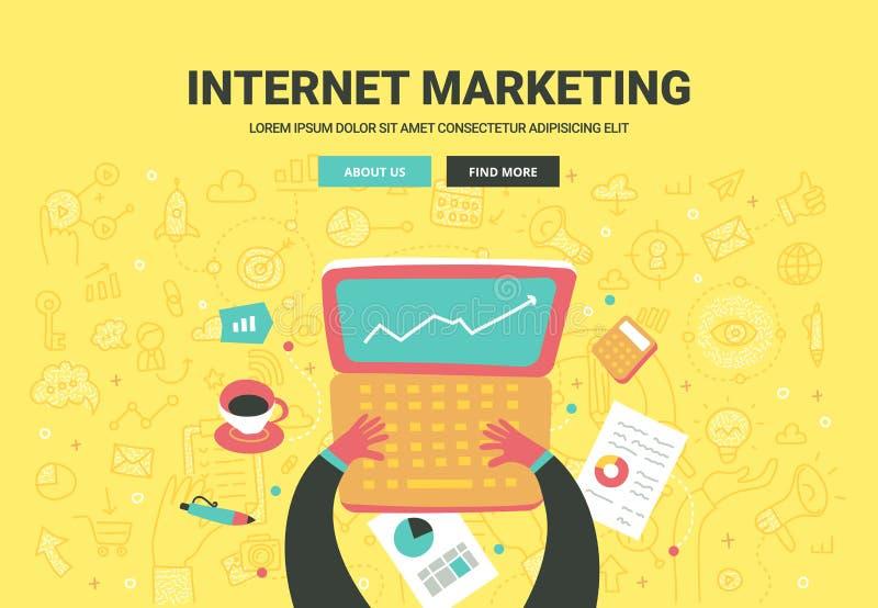 Internet-marketing concept stock illustratie