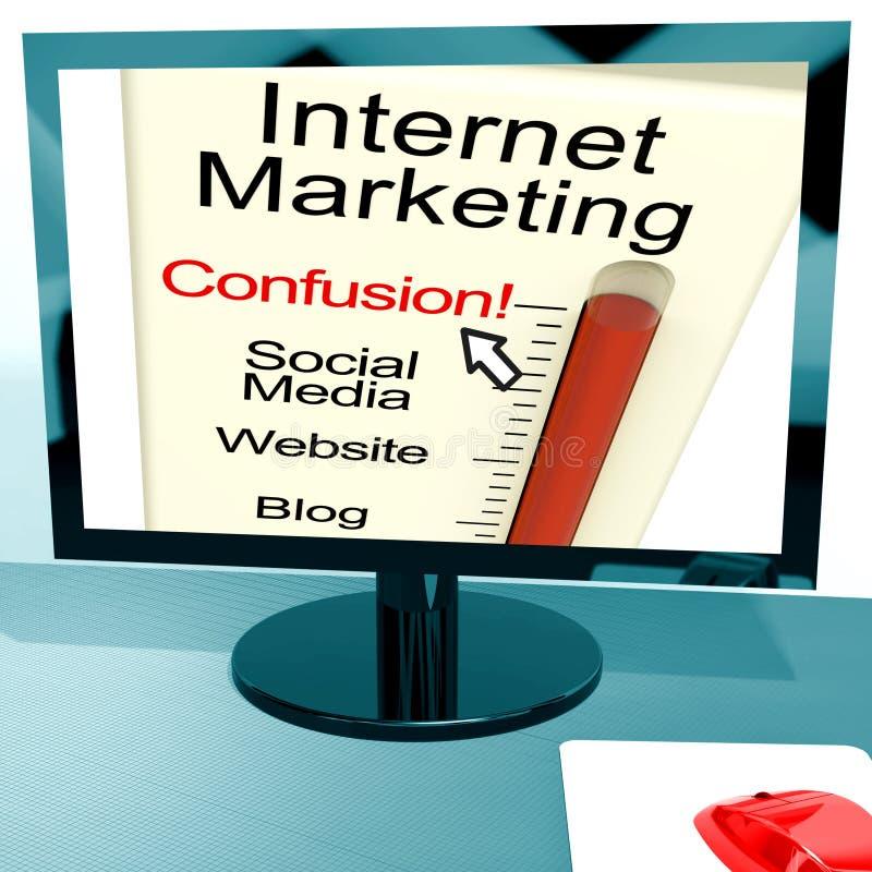 Internet-Marketing-Durcheinander zeigt SEO lizenzfreie abbildung