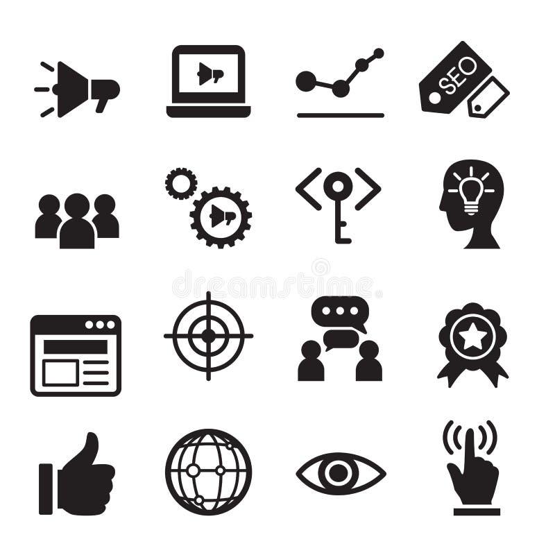 Internet marketing icon set vector illustration