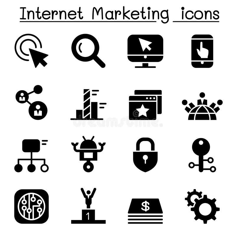 Internet Marketing & Search Engine optimization icon set royalty free illustration