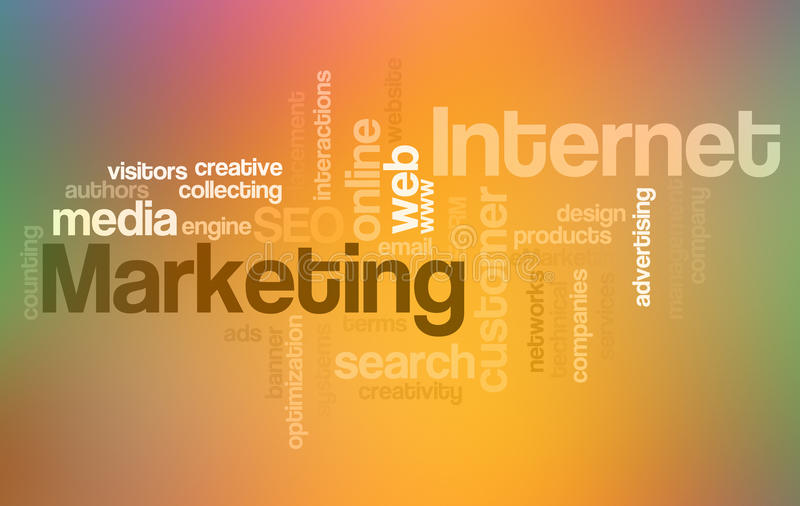Download Internet And Marketing - Word Cloud Stock Illustration - Illustration of emarketing, abstract: 14350829