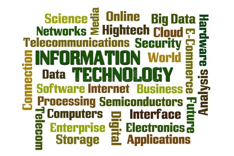 Information Technology Word Cloud stock illustration