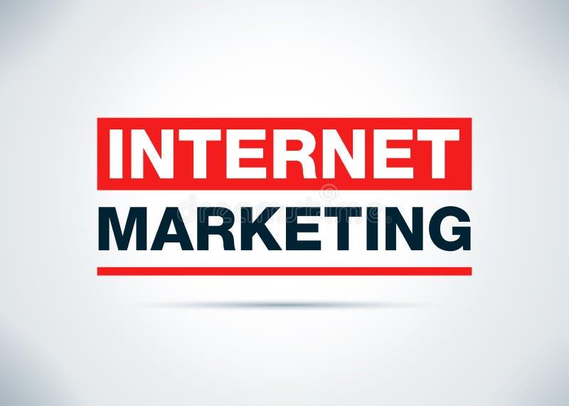 Internet-Marketing-Zusammenfassungs-flache Hintergrund-Entwurfs-Illustration lizenzfreie abbildung