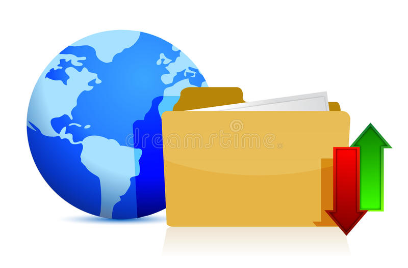 Internet and media technologies concept royalty free illustration