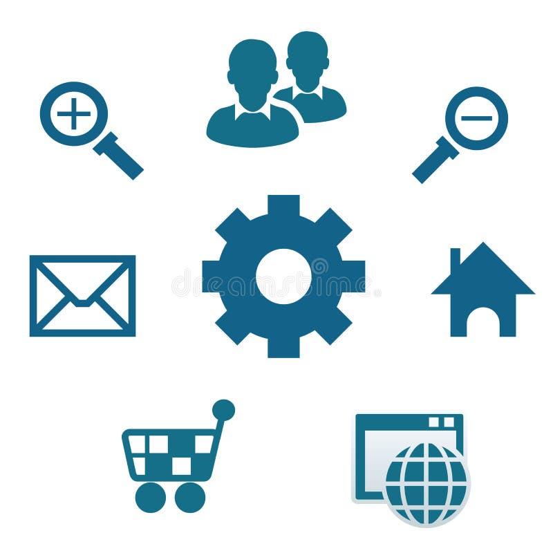 Internet-Medien und Kommunikationsikone stockfoto