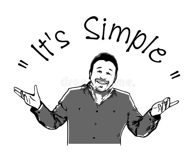 Internet meme`It`s simple`.Vector meme illustration of men. royalty free illustration