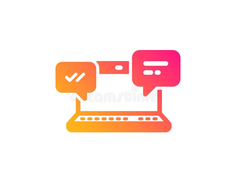 Internet Messages icon. Chat or Conversation. Vector. Internet Messages icon.  Chat or Conversation sign. Computer communication symbol. Classic flat style stock illustration
