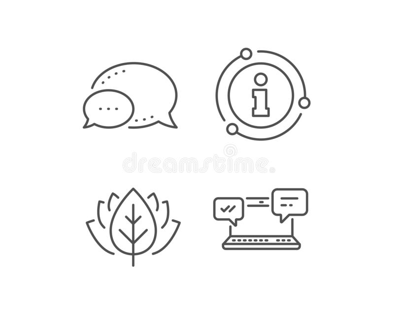 Internet Messages icon. Chat or Conversation. Vector. Internet Messages line icon. Chat bubble, info sign elements. Chat or Conversation sign. Computer vector illustration