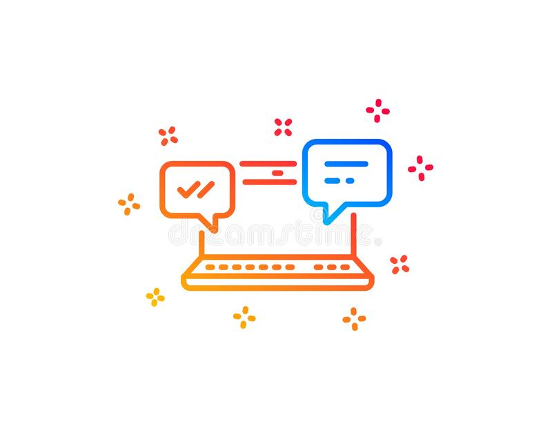 Internet Messages icon. Chat or Conversation. Vector. Internet Messages line icon.  Chat or Conversation sign. Computer communication symbol. Gradient design vector illustration