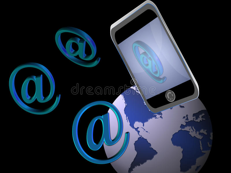 Internet Mobile (03) stock images