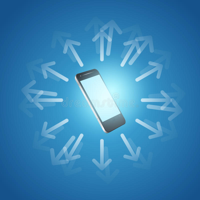 Internet and mobilephone concept symbol vector illustration
