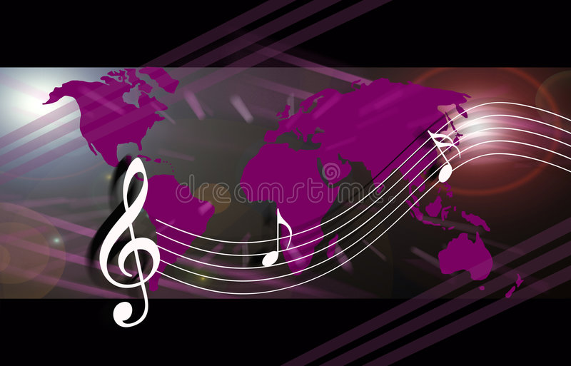 Internet music world vector illustration