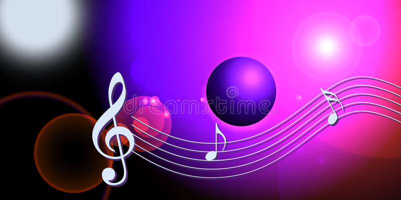 Internet Music World Notes Royalty Free Stock Photo
