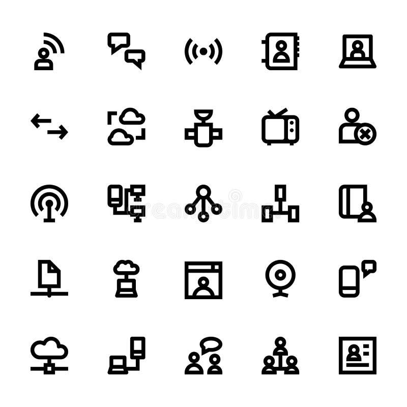 Internet, nätverkande och kommunikation 1 royaltyfri illustrationer