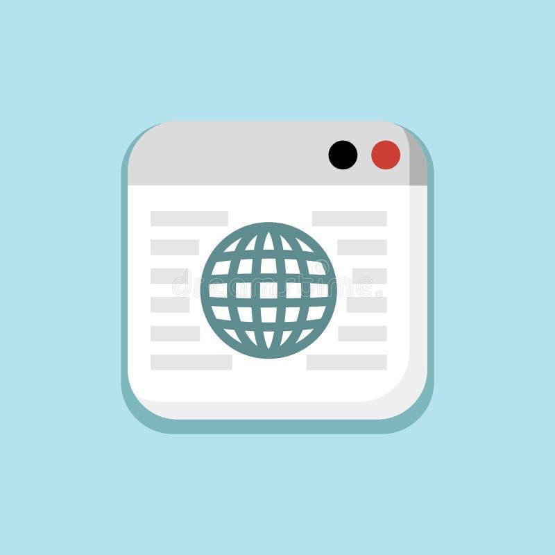 Download Internet, Netwerk, Systeemvenster In Blauw Pictogram Vector Illustratie - Illustratie bestaande uit illustratie, informatie: 114227045