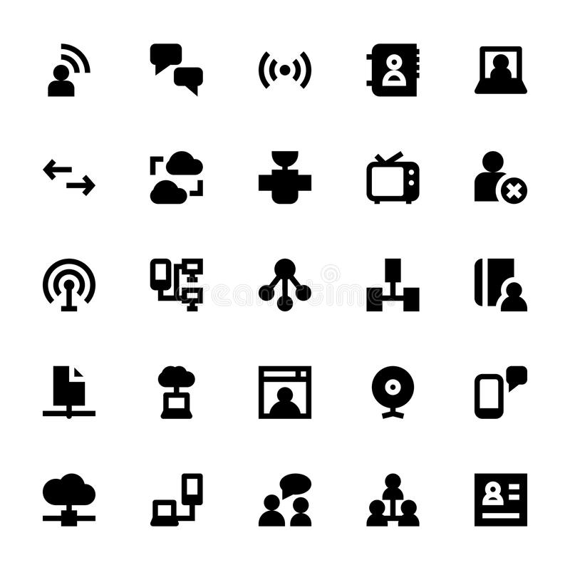 Internet, Networking and Communication 1. This pack is stocked full of great new, extremely useful internet, Networking and Communication icons of all kinds royalty free illustration
