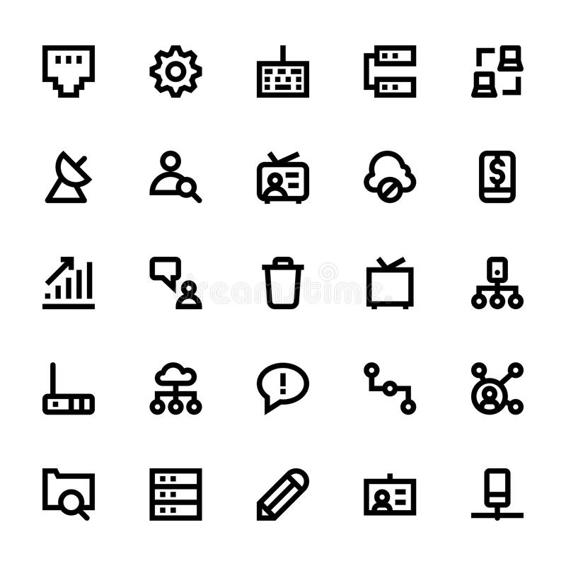 Internet, Networking and Communication 3. This pack is stocked full of great new, extremely useful internet, Networking and Communication icons of all kinds royalty free illustration