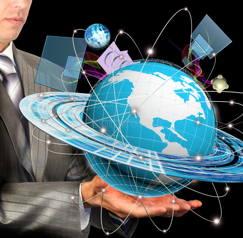 Internet. The newest Internet technologies and digital internet communications royalty free stock images