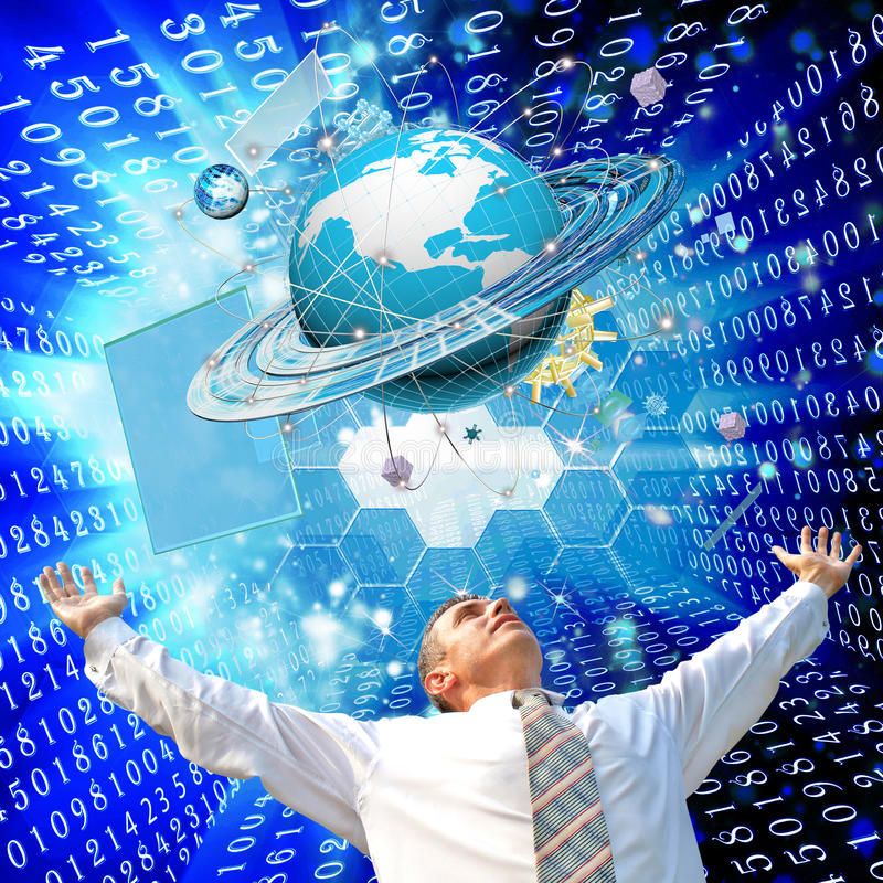 Internet. The newest Internet technologies and digital internet communications stock photos