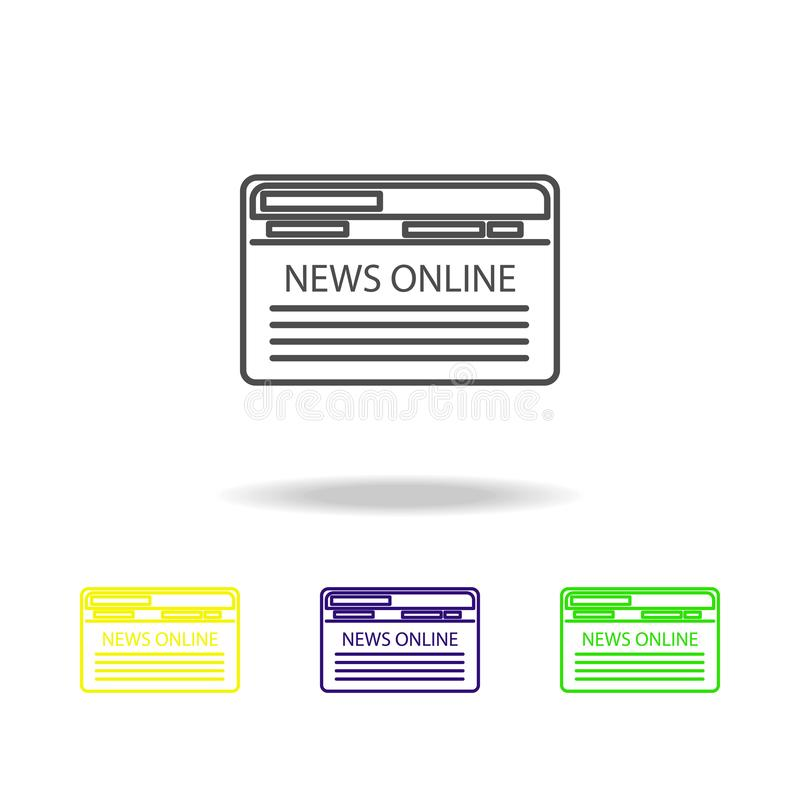 internet news multicolored icons. Element of journalism for mobile concept and web apps illustration. Can be used for web, logo, vector illustration
