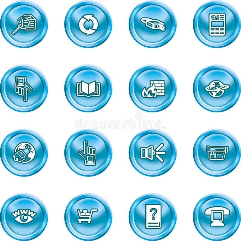 Internet o insieme di calcolo dell'icona illustrazione di stock