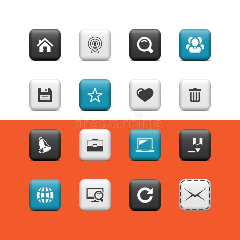 Internet- och blogknappar vektor illustrationer