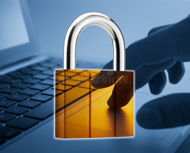 internet ochrona zdjęcie stock