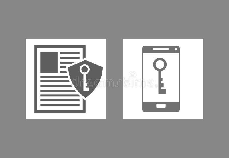 internet ochrony ikon powiązany wizerunek ilustracji
