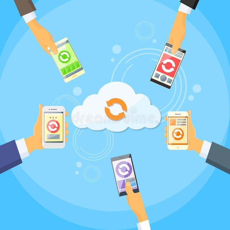 Download Internet Online Del Telefono Cellulare Della Nuvola Della Parte Astuta Di Dati Illustrazione Vettoriale - Illustrazione di nube, commercio: 56881671