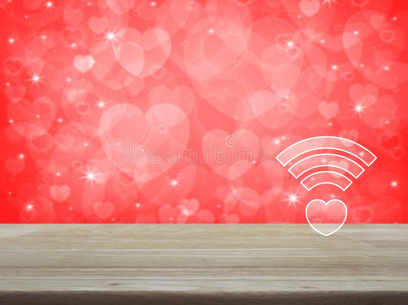Internet Online Love Connection, Valentines Day Concept Stock Image ...